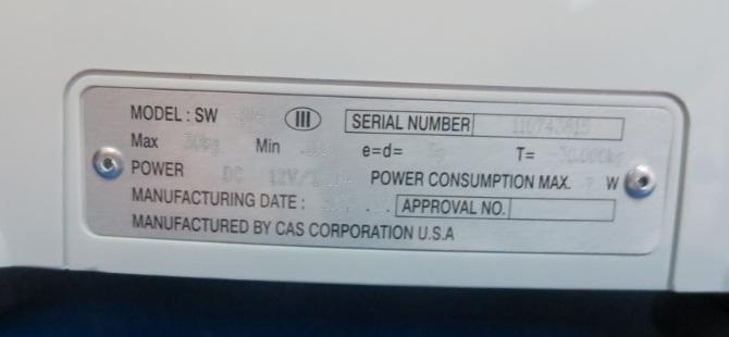 Cân bàn nhỏ CAS SW-1WR-bộ vi xử lý
