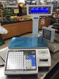 cân siêu thị in tem mã vạch CAS CL-5200