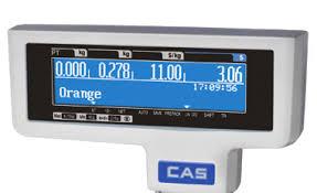 Mặt trước cân thiết kế 3 màn hình tính tiền và 1 Màn hình thể hiện tên sản phẩm tránh nhầm lẫn.