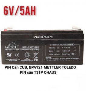 Pin 6V/5AH Cân CUB Mettler Toledo