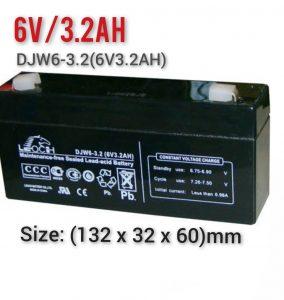 Pin Cân Điện Tử 6V/3.2Ah (DJW6-3.2(6V3.2AH)